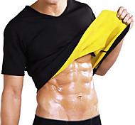 economico -Body Shaper Camicia da ginnastica in vita Gli sport neoprene Allenamento in palestra Esercizi di fitness Corsa Traspirante Dimagrante Perdita di peso Effetto sudorazione Per Da uomo Vita e ritorno