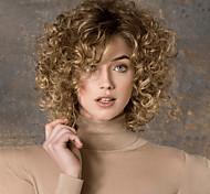 abordables -perruque synthétique bouclée perruque asymétrique blonde courte blonde brun foncé cheveux synthétiques doux élastique pour femmes facile à transporter blond brun foncé