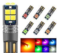 abordables -2 pcs Canbus W5W LED T10 LED 12V-24V Intérieur De La Voiture Lumière 194 5016 SMD 10SMD 3030 LED Instrument Lumières Ampoule Wedge Lumière Aucune Erreur
