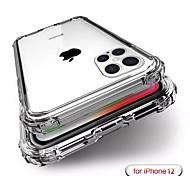 economico -telefono Custodia Per Apple Per retro Silicone iPhone 12 Pro Max 11 SE 2020 X XR XS Max 8 7 6 Resistente agli urti Resistente all'acqua Transparente Transparente TPU