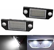 abordables -2 pcs 2 W 12 V 6500 K LED Numéro De Plaque D'immatriculation Lumières Couleur Blanc Pur Pour Ford Focus C-Max 03 Ford Focus MK2 03-08
