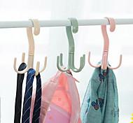 economico -4 pezzi rotante 4 artigli multiuso gancio gancio gancio cravatta sciarpa appendiabiti gancio di plastica gancio per scarpe