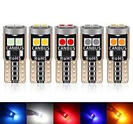 abordables -10pcs W5W LED T10 Ampoules LED Canbus 3030 Puces 6SMD pour feux de position de stationnement de voitureIntérieur Carte Dôme Lumières 12V Blanc Amer
