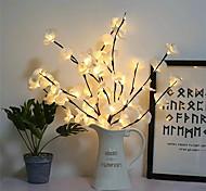 abordables -Creative LED simulation phalaenopsis branche lumière maison décoration intérieure décoration de jour de noël lumière branche lumière chaîne