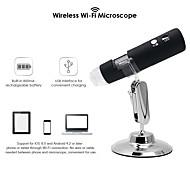 abordables -Loupe de poche microscope à zoom numérique Wi-Fi sans fil Appareil photo 2MP Loupe lumineuse à 8 LED Grossissement 1000x pour tablette de téléphone iOS / Android