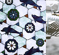 abordables -Vie privée dauphins motif fenêtre film maison chambre salle de bains verre fenêtre film autocollants auto-adhésif autocollant 45 x 100 cm