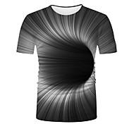 abordables -Homme Unisexe T-Shirts T-shirt Impression 3D Graphique 3D Print Grandes Tailles Impression 3D Imprimé Manches Courtes Décontracté Hauts basique Mode Frais Noir / Blanc Bleu Jaune