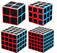 economico -Set Speed Cube 4 pcs Cubo magico Cube intuitivo Fibra di carbonio 2*2*2 3*3*3 4*4*4 Cubo a pazzle Cubo puzzle 3D Anti-stress Cubo a puzzle Senza adesivo Liscio Giocattoli per ufficio A piramide