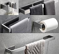 economico -Il set di accessori hardware per il bagno include gancio per accappatoio, portasciugamani, porta asciugamani, porta carta igienica, acciaio inossidabile spazzolato autoadesivo