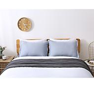 economico -federe in lino king size, 2 pezzi riducono le allergie e le irritazioni respiratorie federe traspiranti in stile vintage, 20 x 30 pollici, blu