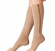 abordables -chaussettes de compression 1 paire nouvelle compression zip sox chaussettes extensible zipper jambe soutien unisexe bout ouvert genou bas