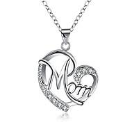 economico -regali per mamma madre collana ciondolo in argento sterling per le donne amano i regali di compleanno della mamma del cuore