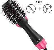 abordables -sèche-cheveux brosse une étape sèche-cheveux& Brosse à air chaud volumateur avec défrisage à friser séchage 3 réglages de température pour la coiffure, les soins capillaires sains