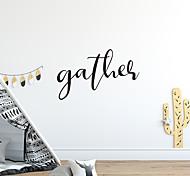 economico -raccogliere prima generazione intagliato inglese motto lettera casa sfondo decorazione adesivo 54 * 33 cm