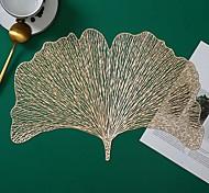 economico -4 pezzi tovaglietta ginkgo biloba tovaglietta in pvc abbronzante cava stile europeo tovaglietta antiscivolo