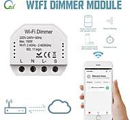 economico -modulo interruttore dimmer wifi controller interruttore a pannello doppio interruttore a 1 via controllo indipendente on-off 86 box