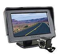 economico -ziqiao 4,3 pollici tft schermo lcd auto monitor parcheggio ausiliario 12 led luce visione notturna telecamera posteriore