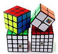 abordables -Ensemble de cubes de vitesse 4 pcs Cube magique Cube IQ 2*2*2 3*3*3 4*4*4 Pack Speedcubing Anti-Stress Cube casse-tête Lisse Jouets de bureau Casse-tête Enfant Adultes Jouet Cadeau