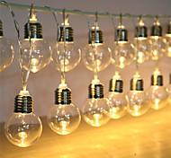 abordables -globe ampoule chaîne alimenté par batterie extérieur étanche guirlande lumineuse guirlande de noël fête de jardin de mariage