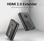abordables -vention hdmi extender hdmi 2.0 répéteur femelle à femelle jusqu'à 10m 50m 60m amplificateur de signal actif 4k @ 60hz connecteur hdmi vers hdmi