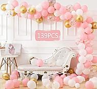 abordables -Kit de guirlande d'arche de ballon de 139 pièces, paquet de ballons de rose rose d'or blanc, fournitures de fête d'anniversaire de bachelorette de mariage de douche de bébé décorations de fond de