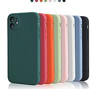 economico -telefono Custodia Per Apple Per retro Custodia in silicone iPhone 12 Pro Max 11 SE 2020 X XR XS Max 8 7 Resistente agli urti Protezione per obiettivo della fotocamera Tinta unica TPU