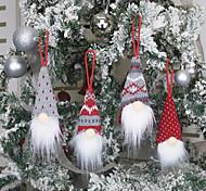 economico -decorazioni natalizie cane ciondolo bambola senza volto ciondolo bambola uomo vecchio ciondolo bambola