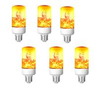 abordables -Ampoule de feu à effet de flamme LED E26-E27 Base 4 modes avec effet à l'envers Halloween Décoration d'ambiance de Noël 8W AC85-265V