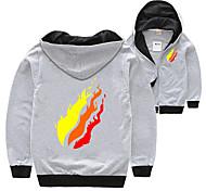 economico -Bambino Da ragazzo maglietta Camicia Manica lunga Arcobaleno Nero Blu Rosso Cotone Bambini Top Estate Attivo Essenziale