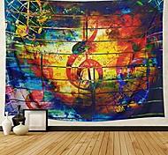 abordables -Tapisserie de musique colorée note de musique ethnique tapisserie tenture murale psychédélique bohème mandala tapisserie murale décor chambre salon dortoir