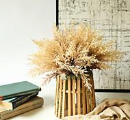 abordables -6 pièces feuilles artificielles bouquet de fleurs salon simulation fleurs bouquet table affichage