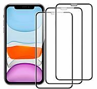 abordables -Protection Ecran Apple Verre Trempé iPhone 12 iPhone 11 iPhone 12 Pro Max iPhone XR iPhone 11 Pro 3 pcs Haute Définition (HD) Anti-Rayures Ecran de Protection Avant Film Vitre Protection Accessoire