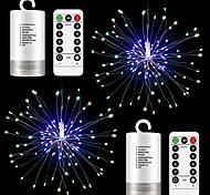 economico -20 cm luci stringa 4 pezzi 2 pezzi 120 led el starburst fuochi d'artificio 13 tasti telecomando regalo di natale bianco caldo che cambia colore capodanno natale impermeabile decorativo esterno 6v