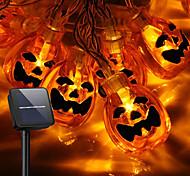economico -luci di zucca di halloween 30-100 led luci di stringa di halloween azionate da energia solare 8 modalità ip65 impermeabili 3d luci jack-o-lanterna per decorazioni di halloween festa interna all'aperto