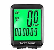 economico -computer da bicicletta, tachimetro del ciclo di sveglia automatico a cifre grandi con retroilluminazione lcd, contachilometri per bicicletta impermeabile multifunzione accessori per il ciclismo,