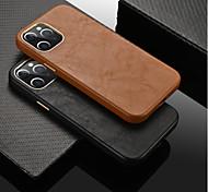 economico -telefono Custodia Per Apple Per retro Custodia in pelle iPhone 12 Pro Max 11 SE 2020 X XR XS Max 8 7 Resistente agli urti Tinta unica pelle sintetica