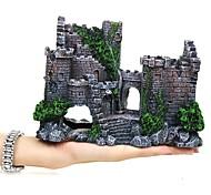 economico -acquario decorazione dell'acquario castello grigio materiale speciale artificiale 1 17 * 13 * 6 cm