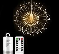economico -20cm luci stringa 198 led el starburst fuochi d'artificio regalo di natale con 13 tasti telecomando 4 pezzi 2 pezzi bianco caldo multi colore capodanno natale impermeabile decorativo esterno 6v