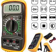 economico -xl830l multimetro ac / dc ad alta sicurezza lcd volt amp ohm tester tester voltmetro amperometro sovraccarico proteggere con sonda