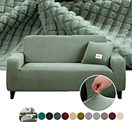 abordables -Housse de canapé Couleur Pleine A plis Polyester Literie