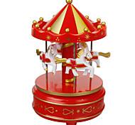 abordables -Boîte à musique Cheval Carrousel Unique En bois Femme Unisexe Fille Enfants Enfant Adultes Cadeaux de fin d'études Jouet Cadeau
