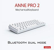 economico -anne pro 2 pro2 60% 61 tasti nkro bluetooth 5.0 type-c rgb tastiera da gioco meccanica cherry switch gateron switch kailh switch
