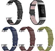 economico -Cinturino per orologio  per Carica Fitbit3 / Carica Fitbit2 / Carica Fitbit 4 Fitbit Cinturino sportivo Vera pelle Custodia con cinturino a strappo