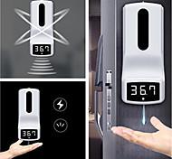 abordables -Désinfectant automatique pour les mains à l'alcool avec distributeur de savon à thermomètre infrarouge pour espace public, supermarché, salle de bain d'hôtel, style goutte de cuisine - 1000 ml