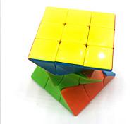 abordables -Ensemble de cubes de vitesse 1 pcs Cube magique Cube QI 3*3*3 Cubes Magiques Casse-tête Cube Brillant Soulagement de stress et l'anxiété Jouets de bureau Adolescent Adulte Jouet Cadeau