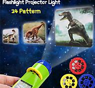 abordables -24 modèles projection lampe de poche enfants projecteur lumière mignon dessin animé jouet nuit photo photo lumière coucher apprentissage amusant jouets