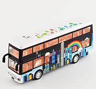 economico -Lega Autobus a due piani Macchinine giocattolo Veicoli a molla Simulazione Musica e luce Tutti Bambino Adulto Giocattoli per auto