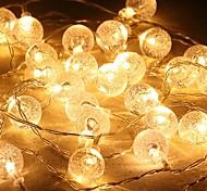 abordables -LED bulle boule forme boîte à batterie éclairage chaîne blanche chaude fête de noël festival intérieur extérieur lumières décoratives