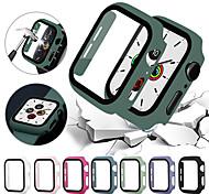 economico -Custodie Per Apple  iWatch Apple Watch Serie 6 / SE / 5/4 44 mm / Apple Watch Serie  6 / SE / 5/4 40mm / Apple Watch Serie  3/2/1 38 mm Plastica / Vetro temperato Proteggi Schermo Custodia per