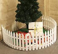 abordables -clôture d'arbre de noël décoration de scène de noël clôture en plastique amovible-10pcs 29 * 11cm